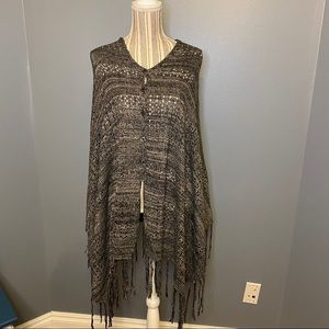 LuLaRoe Mimi Sweater Knit Wrap Poncho